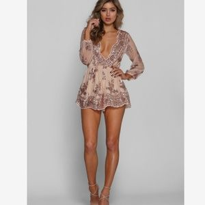 💋Charlotte Russe Sequined Romper💋